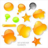 Set of 3D vector items. — Stock Vector