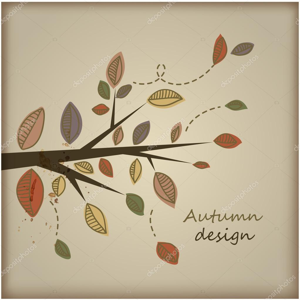 Autumn Background-Autumn Leaves Falling — Stock Vector #16991271