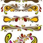 Retro colorful vector pattern. Floral vintage ornate for vignette design. — Stock Vector