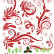 Christmas frame, snowflakes background — Imagen vectorial