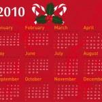 Christmas calendar 2010 — Stock Vector