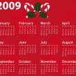 Vector calendar for xmas design. - Vettoriali Stock 