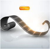 Gedraaide film voor foto- of video-opname — Stockvector