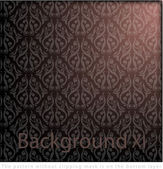 Nahtlose damask wallpaper — Stockvektor
