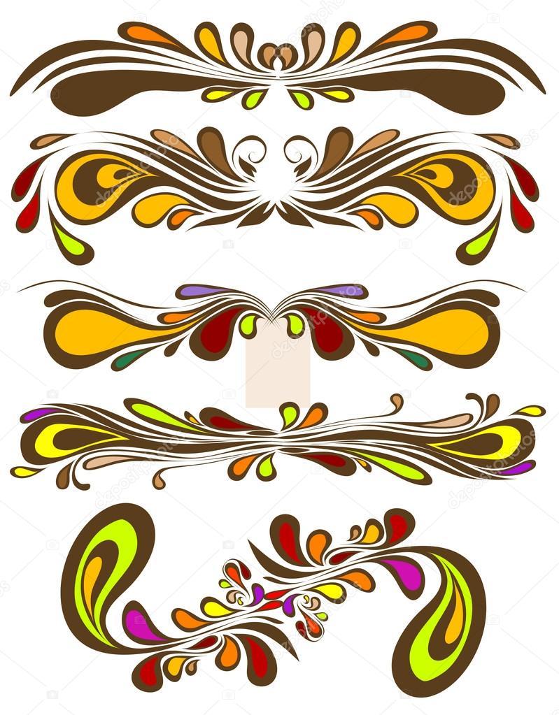 Retro colorful vector pattern. Floral vintage ornate for vignette ...