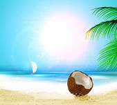 Sea beach background for holiday summer design — Stock Vector