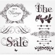 Vector set: calligraphic design elements and page decoration — Vetorial Stock