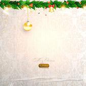 夕方ボール、クリスマスの設計のためのシームレスな飾りとエレガントなクリスマス背景 — ストックベクタ