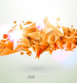 3d bright abstract background - vector illustration — Stock Vector