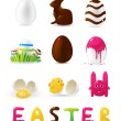 Easter. set — Vector de stock #17604175
