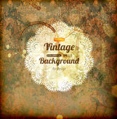 Elegant damask background with classical wallpaper pattern, slightly grungy texture and light effects — Stock Vector