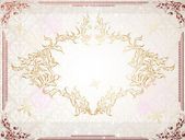 Vintage design template. Retro frames, ornaments. — Stock Vector