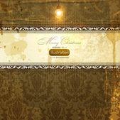 Elegante damast hintergrund mit klassischen tapete muster, leicht grunge texturen und lichteffekte — Stockvektor