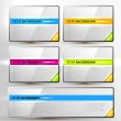 Set of colorful vector banners for web design — Stock Vector
