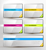 Set of colorful vector banners for web design — Vector de stock