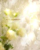 夏の設計のためのロマンチックな花の背景 — ストックベクタ