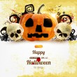 Spooky Halloween composition — Vector de stock #17646111