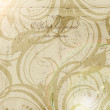 Classical wall-paper with a flower pattern — Image vectorielle