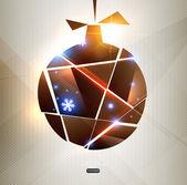 クリスマスの背景ベクトル画像 — ストックベクタ