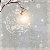 Retro Christmas Card — Stock Vector