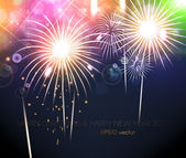 New Year's fireworks — Stock Vector