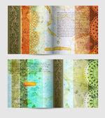 περιοδικό κενή σελίδα πρότυπο vintage σχεδίασης — Διανυσματικό Αρχείο