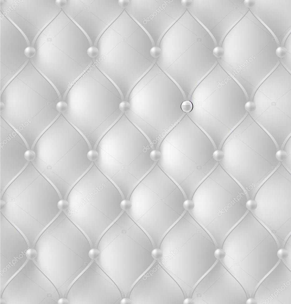 Button Tufted Leather Background Vector Illustration