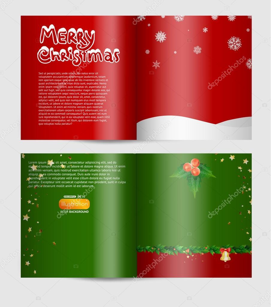 magazine blank page christmas design template stock vector magazine blank page christmas design template stock vector 17645843