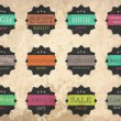 Set of retro style labels — Stock Vector #17653751