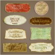 Royalty-Free Stock Vector Image: Set of retro style labels