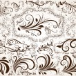 Royalty-Free Stock Vector Image: Vector set: calligraphic design elements and page decoration, Premium Quality and Satisfaction Guarantee Label collection with vintage engraving flowers