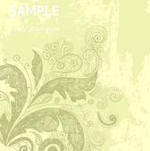 старинные цветочные карты элегантность — Cтоковый вектор