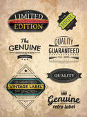 Set of retro style labels — Stock Vector