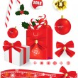 Stock Vector: Christmas sale banner. Vector