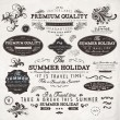 Set of vintage labels — Stock Vector #17886471