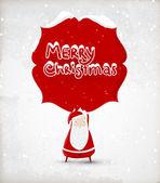 Santa Claus mit roten Rahmen. Vektor-Illustration für retro Weihnachtskarte — Stockvektor