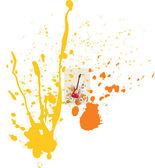 弹簧设计的吉他和鲜花的矢量图. — 图库矢量图片