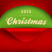 Curled corner paper for Christmas invitation. Vector Illustration. — Stock Vector