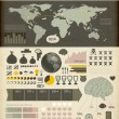 Stock Vector: Set elements of infographics. World Map and Information Graphics