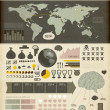 Set elements of infographics. World Map and Information Graphics - Imagen vectorial