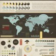 Set elements of infographics. World Map and Information Graphics — Imagen vectorial