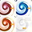 Stock Vector: Set. Vector abstract swirl.