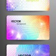 Set of gift cards. — Stock Vector