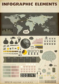 Set elements of infographics. World Map and Information Graphics — Stock Vector