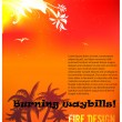 Fire banner - Imagen vectorial