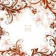 Cute floral greeting card - Imagen vectorial