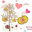 Royalty-Free Stock Imagen vectorial: Beautiful illustration for spring design.