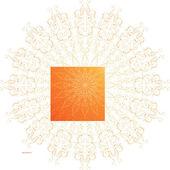 Floral circle frame — Stock Vector