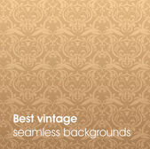 Seamless Damask wallpaper — Wektor stockowy
