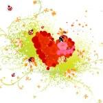 Valentine illustration for spring design. — Stock Vector